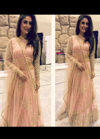 Kareena Inspired Peach Embroidered Lehenga Choli