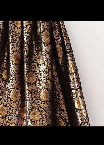 Gold Brocade Designer Lehenga