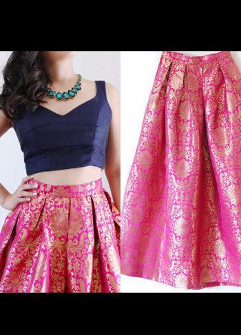 Pink Brocade Skirt