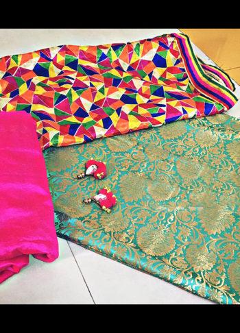 Rani and Blue Punjabi Suit