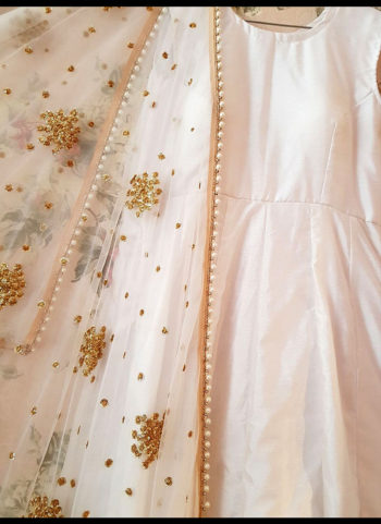 White and Golden Embroidered Salwar