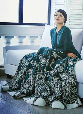 Jacqueline Rama Embroidered Banglori Silk Anarkali