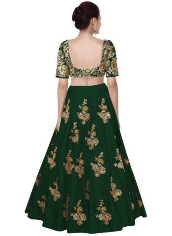 Green and Gold Embroidered Lehenga Choli