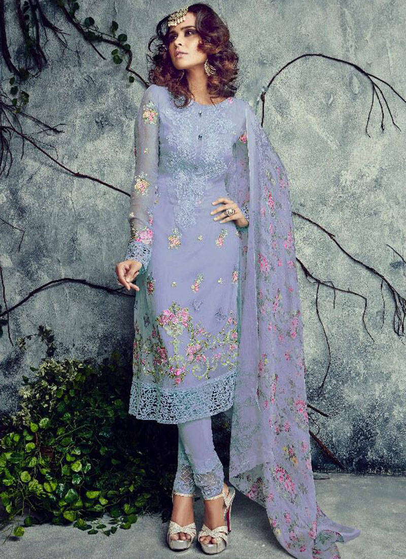 328ea08f6a Light Lavender Embroidered Straight Suit – Falakenoor Boutique