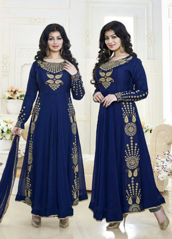 Ayesha Blue Embroidered Anarkali
