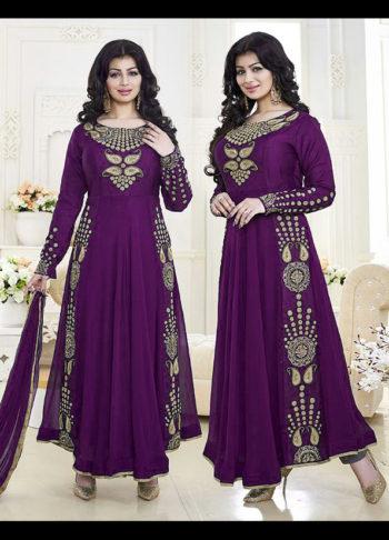 Ayesha Purple Embroidered Anarkali