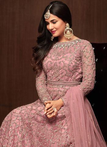 Light Pink Embroidered Anarkali