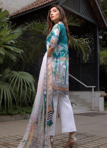 Firdous Cambric Cotton Suit