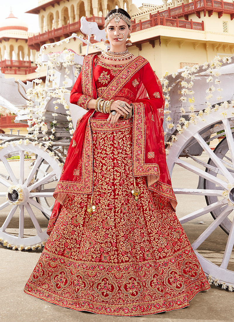 72d61fc306 Maroon and Gold Embroidered Bridal Lehenga – Falakenoor Boutique