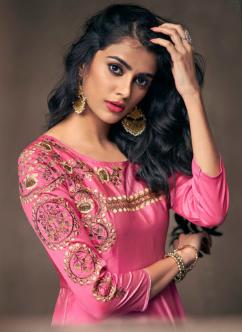 Pink Embroidered Gown