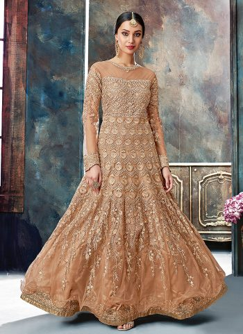 Coco and Gold Embroidered Anarkali