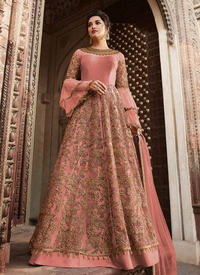 Pink Embroidered Lehenga / Pant Style Anarkali