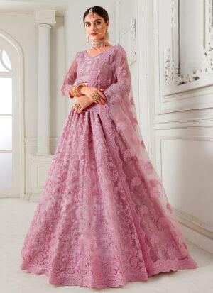 Pink Heavy Embroidered Lehenga