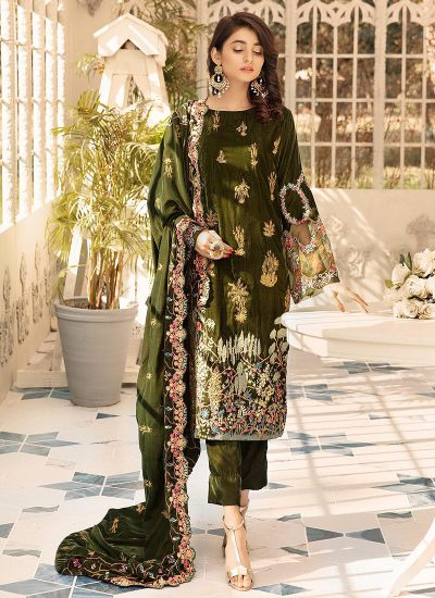 SHAISTA - Embroidered Velvet Collection