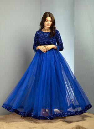 Blue Sequin Pishwas