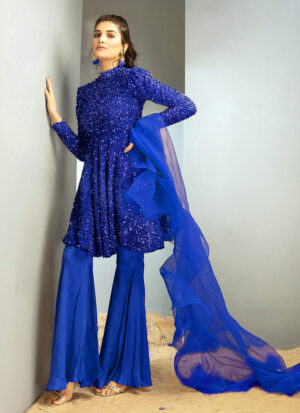 CHIC OPHICIAL - Royal Blue peplum