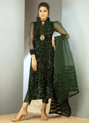 Emerald Sequin Velvet shirt