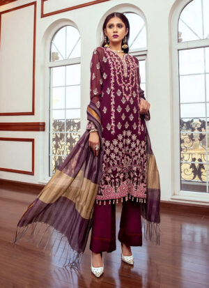 ZS TEXTILES - Meraki Embroidered Chiffon Collection