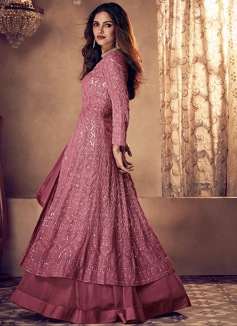 Pink Heavy Embroidered Lehenga Anarkali